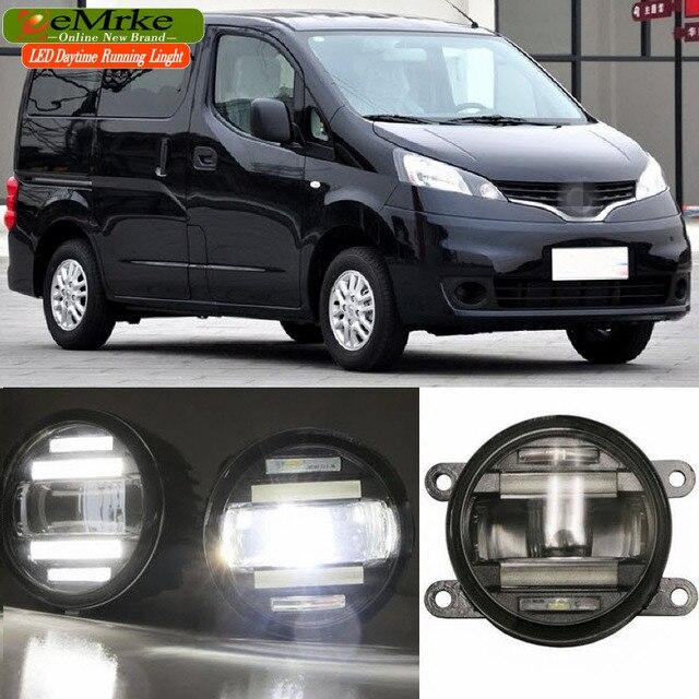 eemrke car styling for nissan nv200 evalia europe asia 2in1 multifunction led fog lights drl. Black Bedroom Furniture Sets. Home Design Ideas