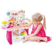 Hot Sale Juguetes Toys Kids Educational Miniature Pretend Play Ice Cream Sets Supermarket Cash Register Toys For Children