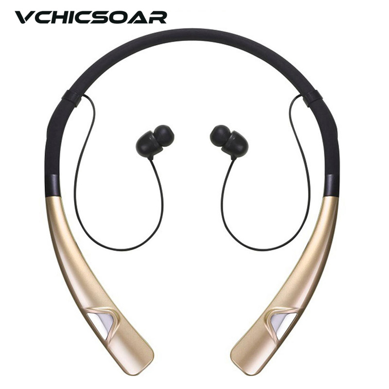 Vchicsoar HV980 Wireless Bluetooth Headphones Sports Neckband Headset V4.1 Noise Reduction Stereo Earphones with Mic for xiaomi 8252 original stereo sports gaming noise reduction built in microphone headphones wireless bluetooth headset for iphone samsung
