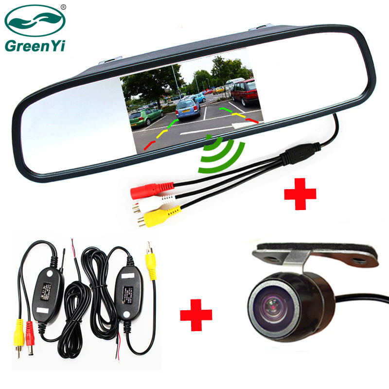 Greenyi Wireless Reverse Car Backup Camera With Rear View