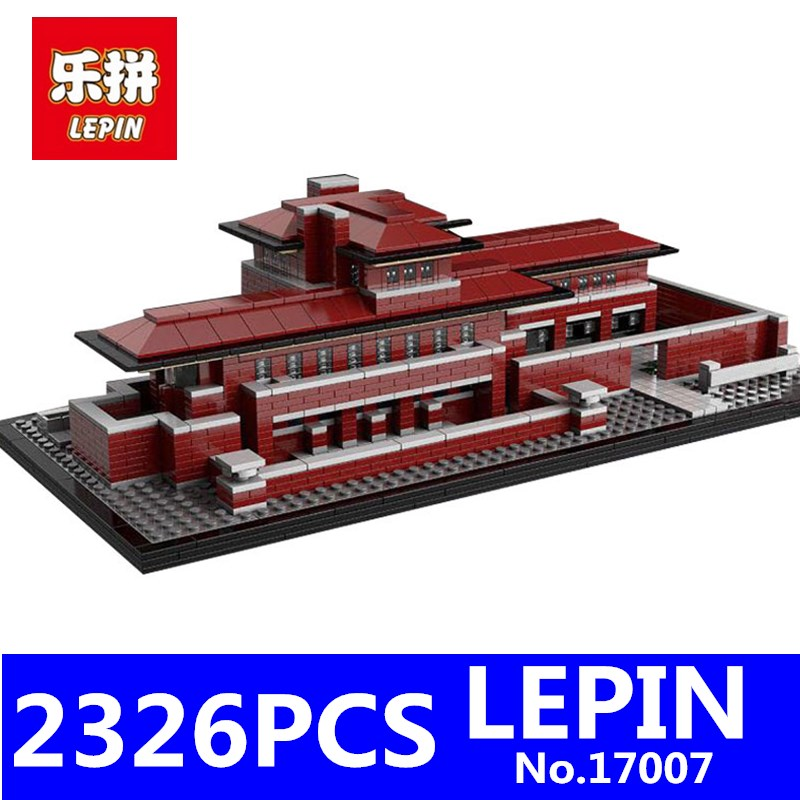 LEPIN 17007 2326Pcs Genuine Architecture Series The Robie House Educational Building Blocks Bricks Toys Model Compatible 21010 4695pcs lepin 16001 city series firehouse headquarters house model building blocks compatible 75827 architecture toy to children