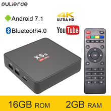 PULIERDE X5S 2GB 16GB Rockchip RK3229 Quad Core Android 7.1 TV BOX Bluetooth4.0 H2.65 4K Smart TV BOX 2.4G WIFI Set-top box
