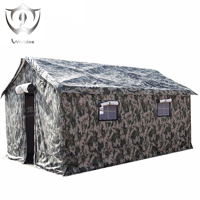 Wnndieo Heavy Duty Waterproof Canvas Military C&ing Refugee Relief Tent Construction Site Tent  sc 1 st  AliExpress.com & Wnndieo Heavy Duty Waterproof Canvas Military Camping Refugee ...