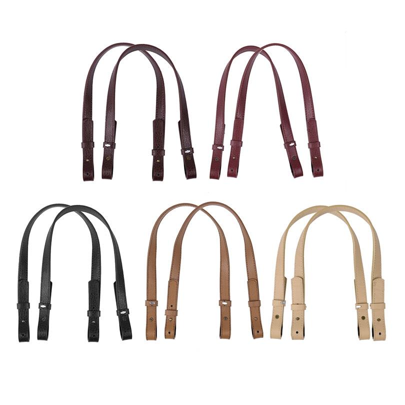 2Pcs High Quality Classic PU Leather Adjustable Removable Shoulder Bag Straps Replacement for Handbags Purse Bag Strap Belt
