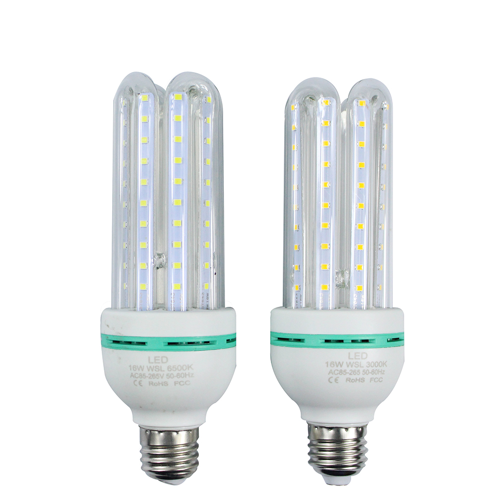 High Quality 16W E27 80LED 2835 SMD LED Corn Bulb with White,Warm White AC85-265V U Shape Corn Light Bulb Lamp Ceiling Light honsco e12 5w 400lm 84 smd 2835 led 3000k warm white light corn bulb ac 85 265v