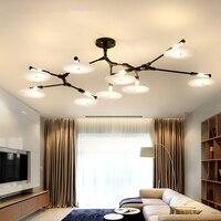 Американский Винтаж потолочные светильники лампы для Гостиная фонарь для спальни де teto современный потолочный светильник домашнего освещ