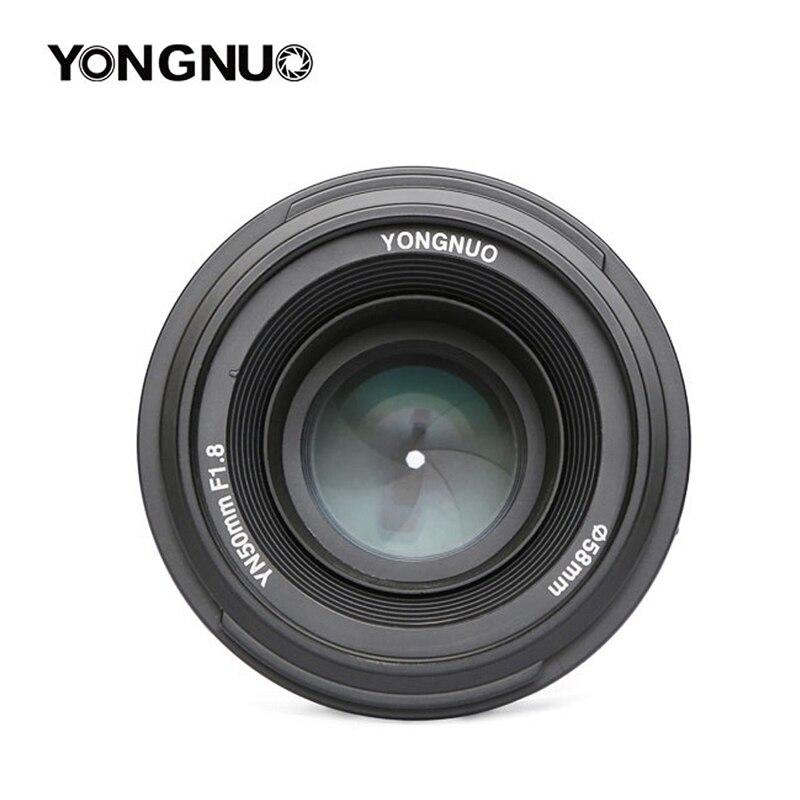 Objectif YONGNUO YN 50mm YN50mm F1.8 objectif fixe AF/MF à grande ouverture pour Canon EOS ou appareil photo reflex numérique Nikon
