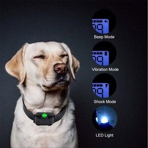 Image 5 - 전기 개 훈련 칼라 모든 크기에 대 한 LCD 디스플레이와 방수 충전식 원격 제어 애완 동물 나무 껍질 중지 칼라 40% 할인