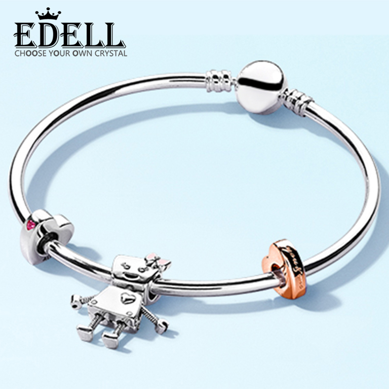 EDELL 100% 925 Sterling Silver Brand New Pando Bracelet Bella And Friends Bracelet Set Suitable For DIY Family Friends GiftEDELL 100% 925 Sterling Silver Brand New Pando Bracelet Bella And Friends Bracelet Set Suitable For DIY Family Friends Gift