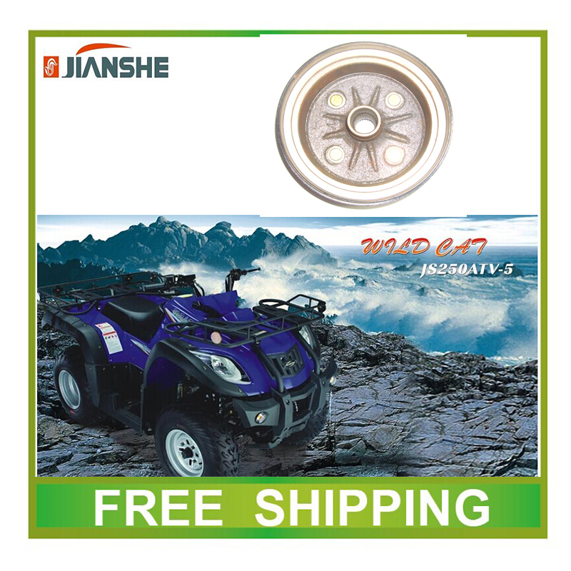 все цены на JIANSHE 250cc ATV atv250-3-5 rear brake drum gear 27 gear parts deep flat helical gear accessories free shipping онлайн