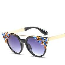 YAYA Moda La Decoración Del Diamante gafas de Sol de Marco Las Mujeres Diseñador de la Marca de Personalidad Gafas de Sol Gafas De Sol Mujer