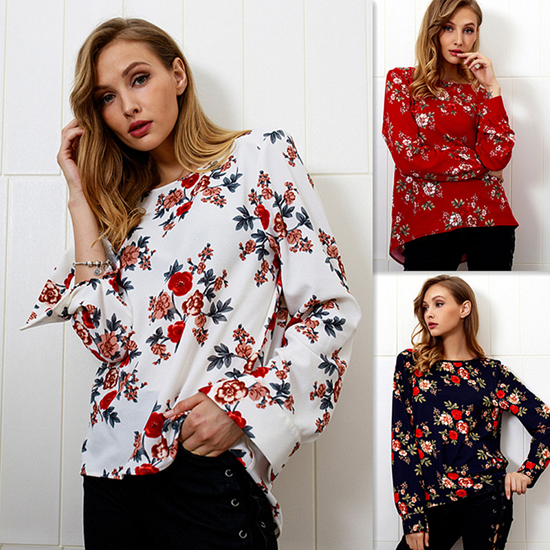 Summer Women's T Shirts Casual Long Sleeve Printed Shirt Zipper Bottoming Female O-neck Loose Tops Tee Shirt Lady Clothin