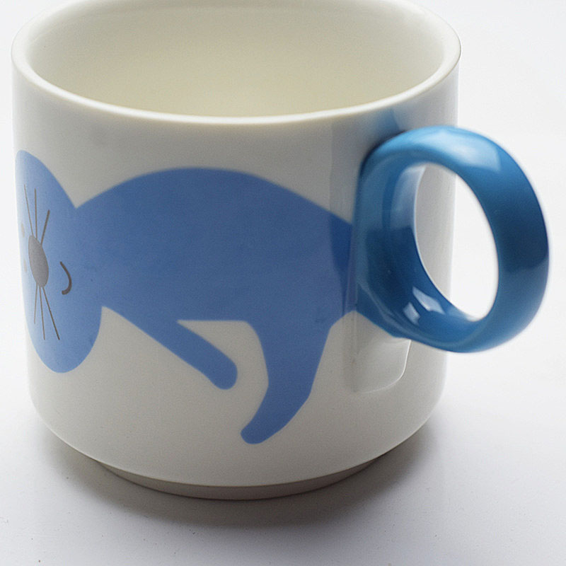Gllead Fashion Cute Cartoon Cat Coffee Mug Creative Ceramic Tea