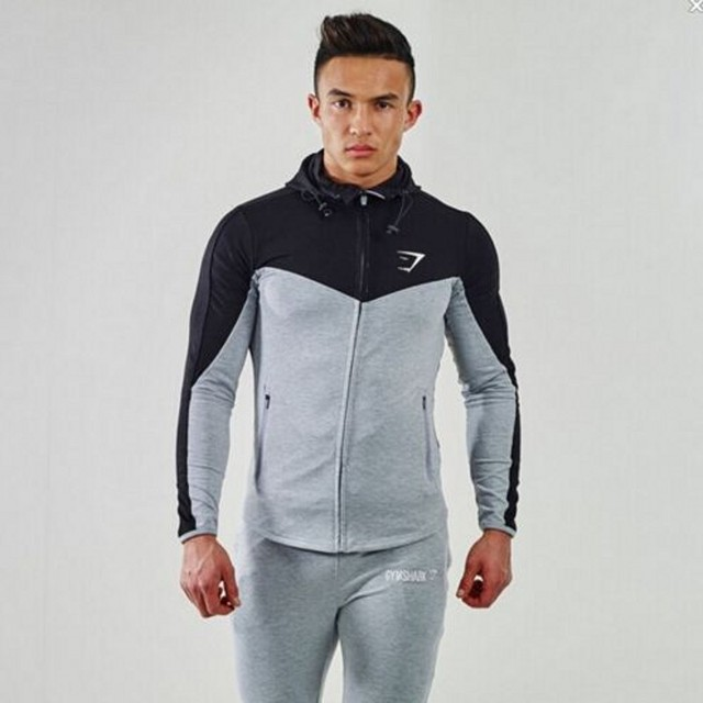 2016 Gymshark Hoodies men sweatshirt belt patchwork full sleeve assassins creed man hoodies tracksuits bape mens sweatshirt