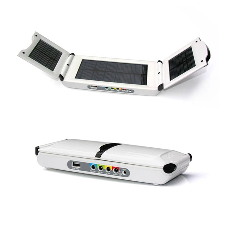 Multifunctional Solar Energy Emergency Power Source for Laptop Cell phone 19V, 5.5V,11.1V,16V,24V 12000MAH Li-Pol USB Batteries
