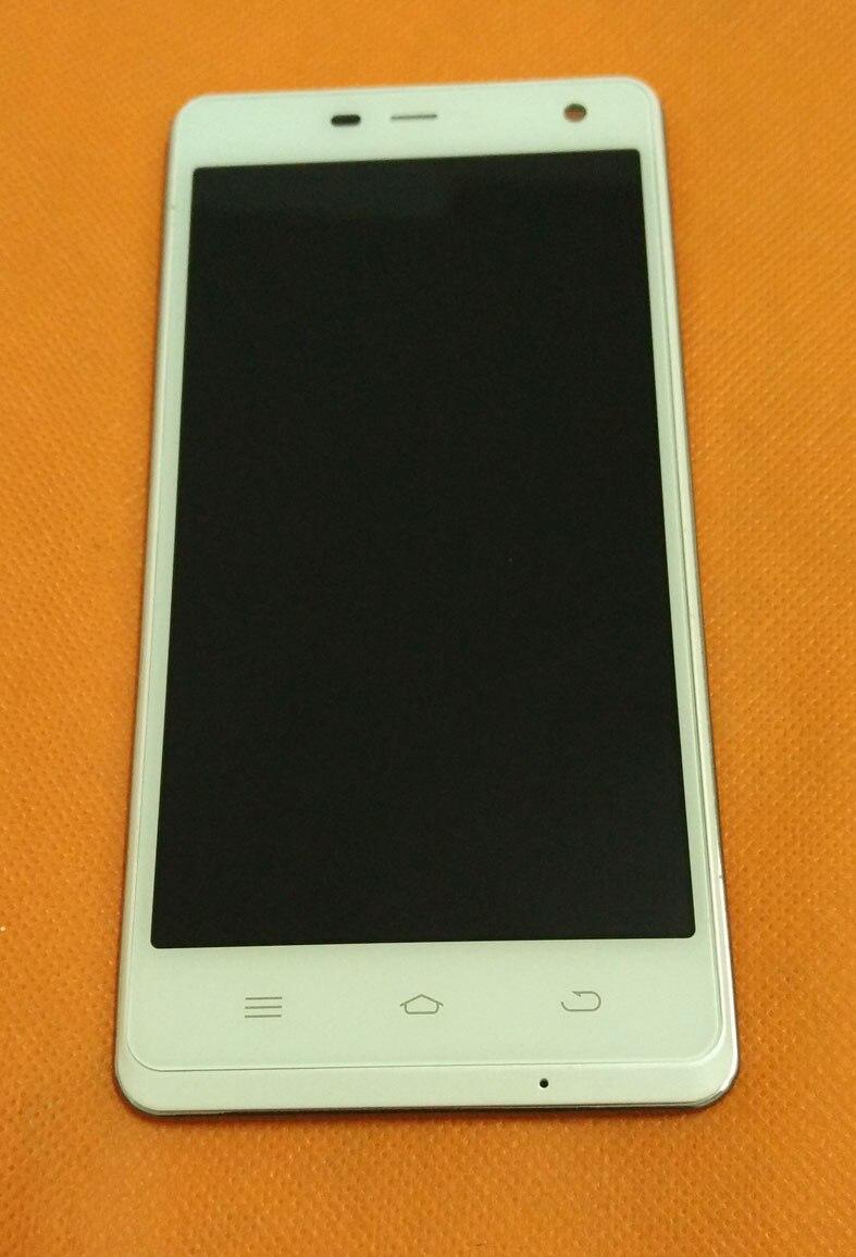 """bilder für Verwendet Original touchscreen + FHD LCD display + Frame assembly für THL 5000 MTK6592 5,0 """"1080 P Freies verschiffen"""