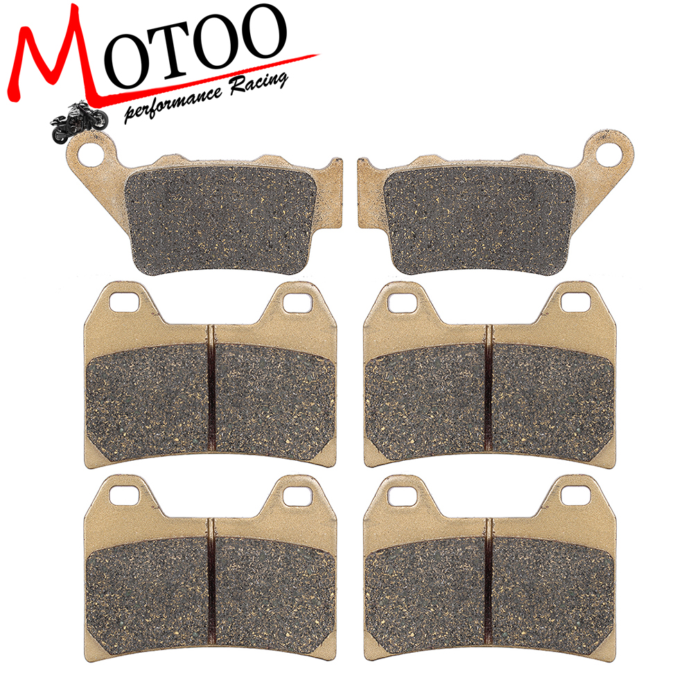 Motoo - Motorcycle Front and Rear Brake Pads For BMW F800GT 2013-2016 F800R 2009-2014 F800S/ST 2006-2013 motoo motorcycle front and rear brake pads for honda cb600f hornet 1998 2006