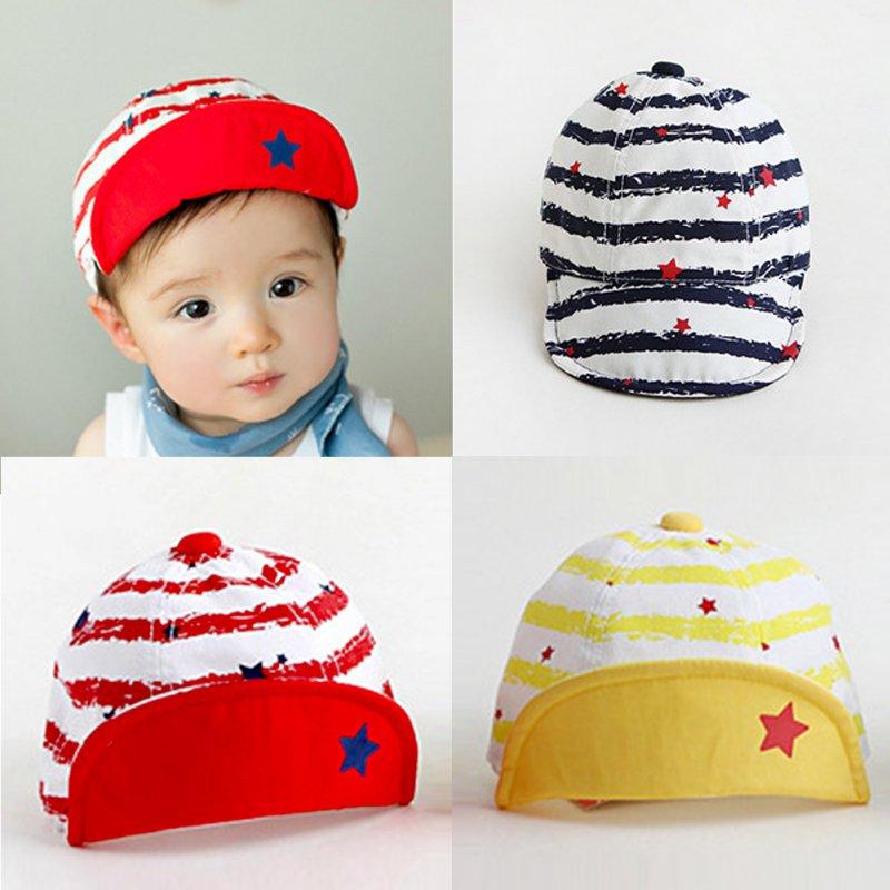 aa70f459ff5f9 Nuevos niños Niñas niño algodón estrella imprimir bebés tira el sombrero  visor SnapBack sombreros