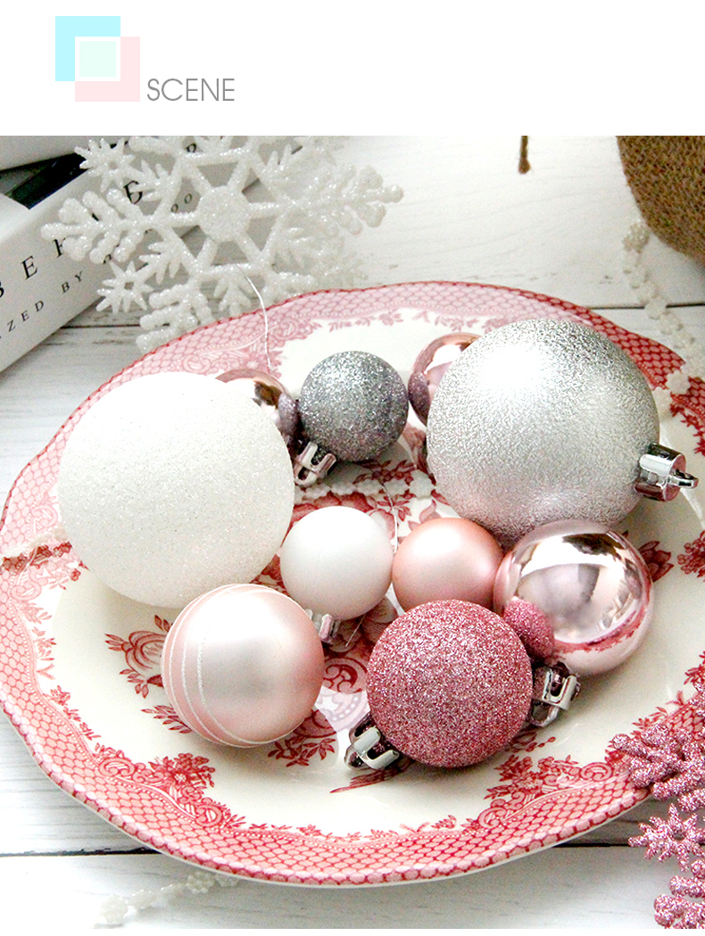 04 inhoo Plastic Christmas Balls For Home Christmas Tree Decorations White Baubles Xmas Ornaments Pendant Balls 2019 New Year Gifts