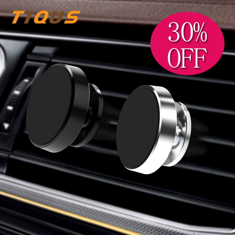 TIQUS Car Phone Holder Magnetic Air Vent Magnet Mobile Phone Car Holder For Cell Phone Car Mount Holder Universal