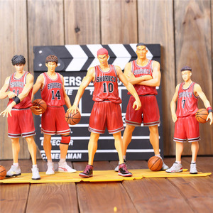 Anime Shohoku SLAM DUNK Action Figure Miyagi Akagi Rukawa Sakuragi Mitsui Model Toy Boy Gift Slamdunk Collectibles Full Set(China)