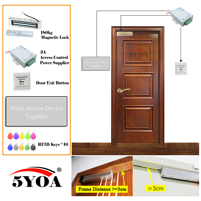 Access Control System RFID Fingerprint Smart Door Lock Safe Kit Electronic Gate Opener Home Garage Digital