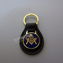"Masonic Key Chain Blue "" Compass and Square G ""Badge Mason Freemason MK01"