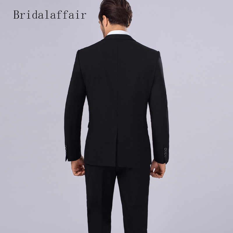 Bridalaffair куртка брюки жилет 3 шт. мужские костюмы синий мужской костюм Slim Fit 2018 костюм Homme Mariage мужские Terno ужин синий смокинги