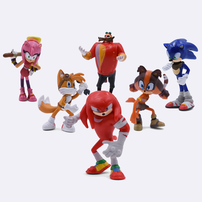 6Pcs/Set 5-7CM Sonic Shadow Tails Amy Rose Dr Eggman PVC Toys Action Figures Doll Toys For Boys Girls Free Shipping