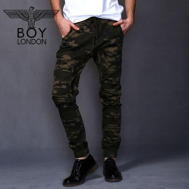 e86938509c BOY LONDON Pantalones de Camuflaje Ocasional Pantalones Deportivos Hombres  Otoño Cómoda de Algodón Pantalones de Cintura
