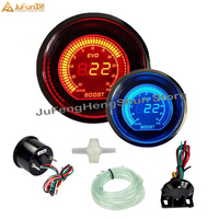 52mm Car Turbo Boost Gauge Auto LCD Screen Digital Psi 12V Gauges Blue and Red LED Light Boost Meter with Boost Sensor for Car