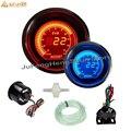 Potenciador turbo de coche de 52mm, pantalla LCD automática Digital Psi 12 V, medidor de aumento de luz LED azul y rojo con Sensor de impulso para coche