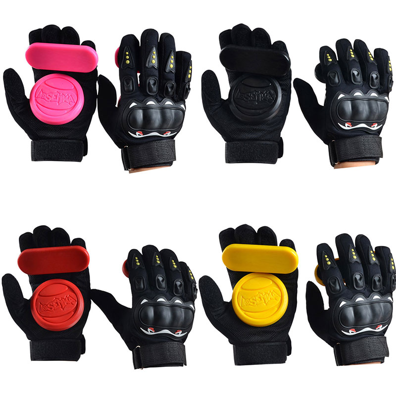 Skateboard Gloves Protector Armguard Longboard Foam Thicker Downhill Freeride Slide Sliding Protective Palm Slider Outdoor Glove