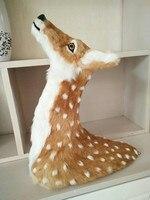 big creative simulation deer head model polyethylene & furs deer head gift about 52x48cm 1646