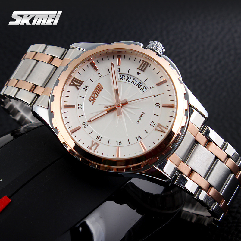 Watches Men Luxury Brand Quartz Watch Men Full Steel Wristwatches Casual Clock Relogio Masculino Reloj Hombre Quartz-Watch Skmei women men quartz silver watches onlyou brand luxury ladies dress watch steel wristwatches male female watch date clock 8877