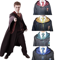 Harri Potter Robe Cape Cloak Gryffindor Slytherin Ravenclaw Hufflepuff Cosplay Costume Kids Adult Robes With Tie
