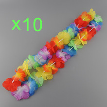 trip trvalling 10 pcs Fashion Artificial Eco friendly Hawaii Tropical Hula Flower Necklace Garlands