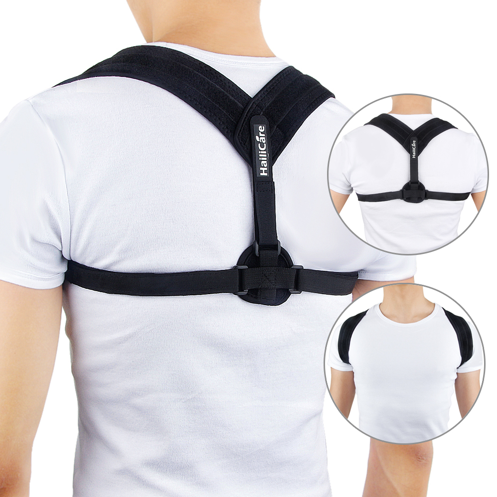 Back Care Posture Corrector Adjustable Clavicle Brace Shoulder Support Strap For Women Men Improve Sit Walk Prevent Slouching