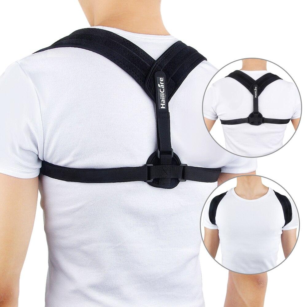 Zurück Pflege Körperhaltung Korrektor Einstellbare Schlüsselbein Klammer Schulterstütze Gurt für Frauen Männer Verbessern Sitzen Spaziergang Verhindern Slouching
