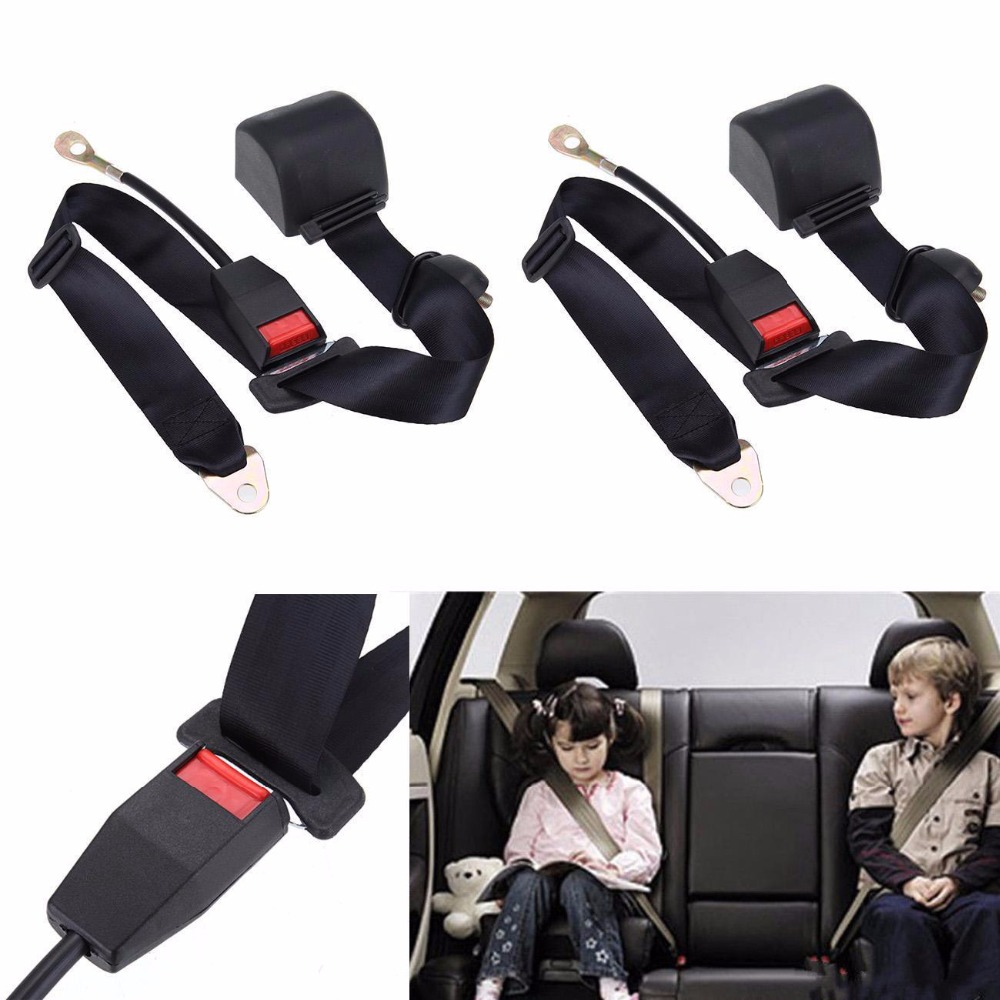 (Ship from EU) Black 3 Point Retractable Auto Car Safety Seat Lap Belt Harness Adjustable low price for 2 pcs hotel 3m retractable belt vip crowdcontrol retractable tensa barriers queue way post
