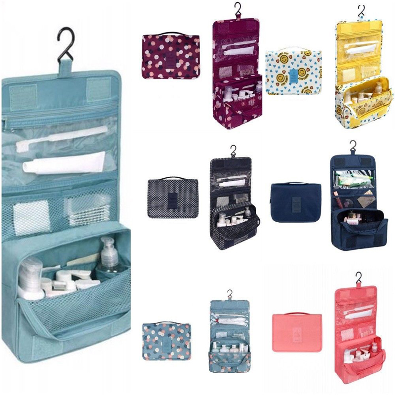 Image 2 - Hanging Toiletry Kit Clear Travel Storage Bag Cosmetic Carry Toiletry Pockets For Womens Wash Bag Traveling Wall Storage-in Storage Bags from Home & Garden