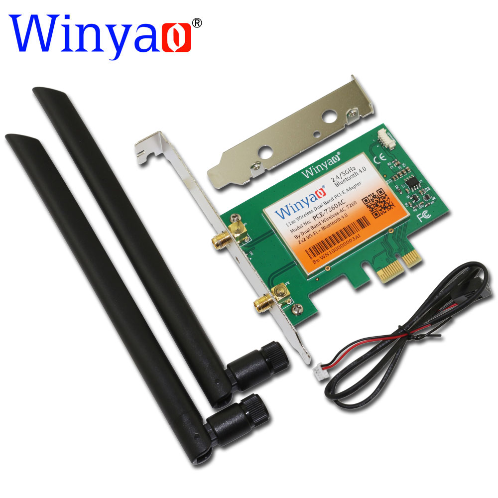 winyao pce 7260ac 867mbps wifi adapter gigabit ethernet pci e pci express wifi. Black Bedroom Furniture Sets. Home Design Ideas