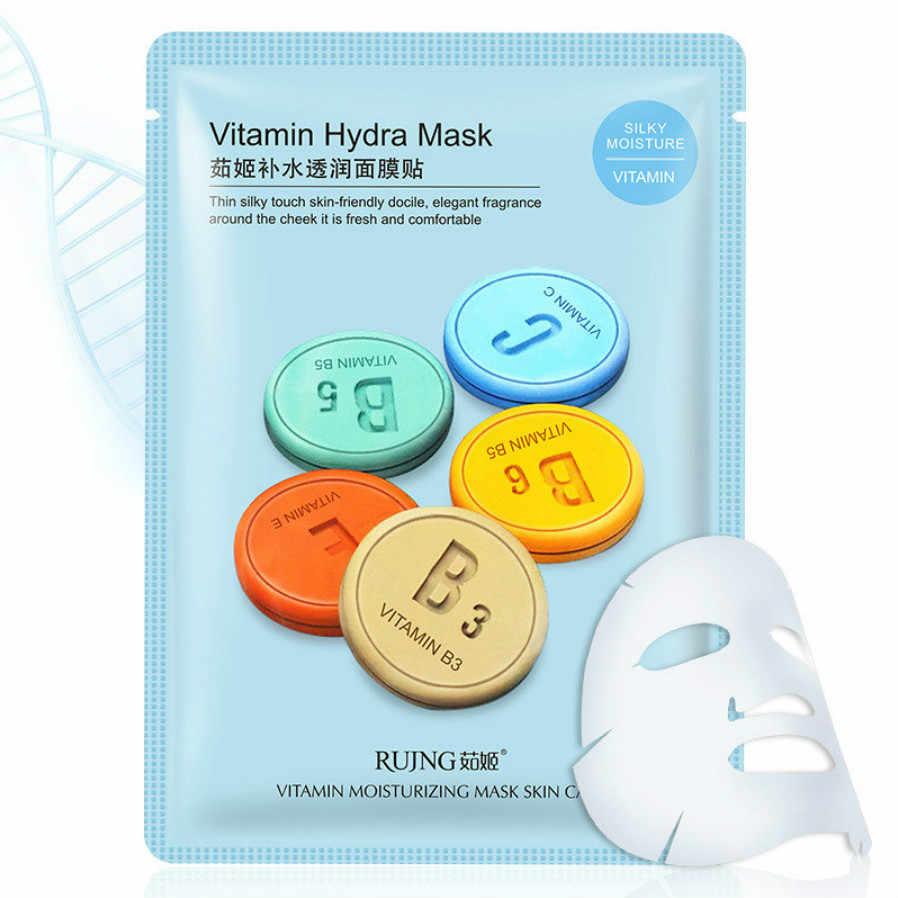 1 pièces Hydra masque poudre lubrification soins de la peau plante masque Facial hydratant contrôle points noirs dissolvant enveloppé masque soins du visage