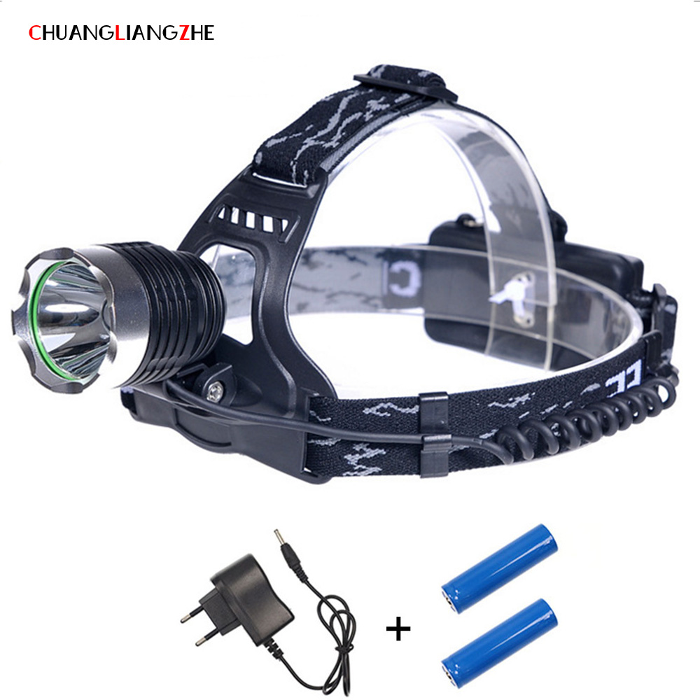 CHENGLIANGZHE LED XML T6 Headlight 18650 Battery Outdoor Hunting Riding Long Shot Camping Fishing Light Mining Lights