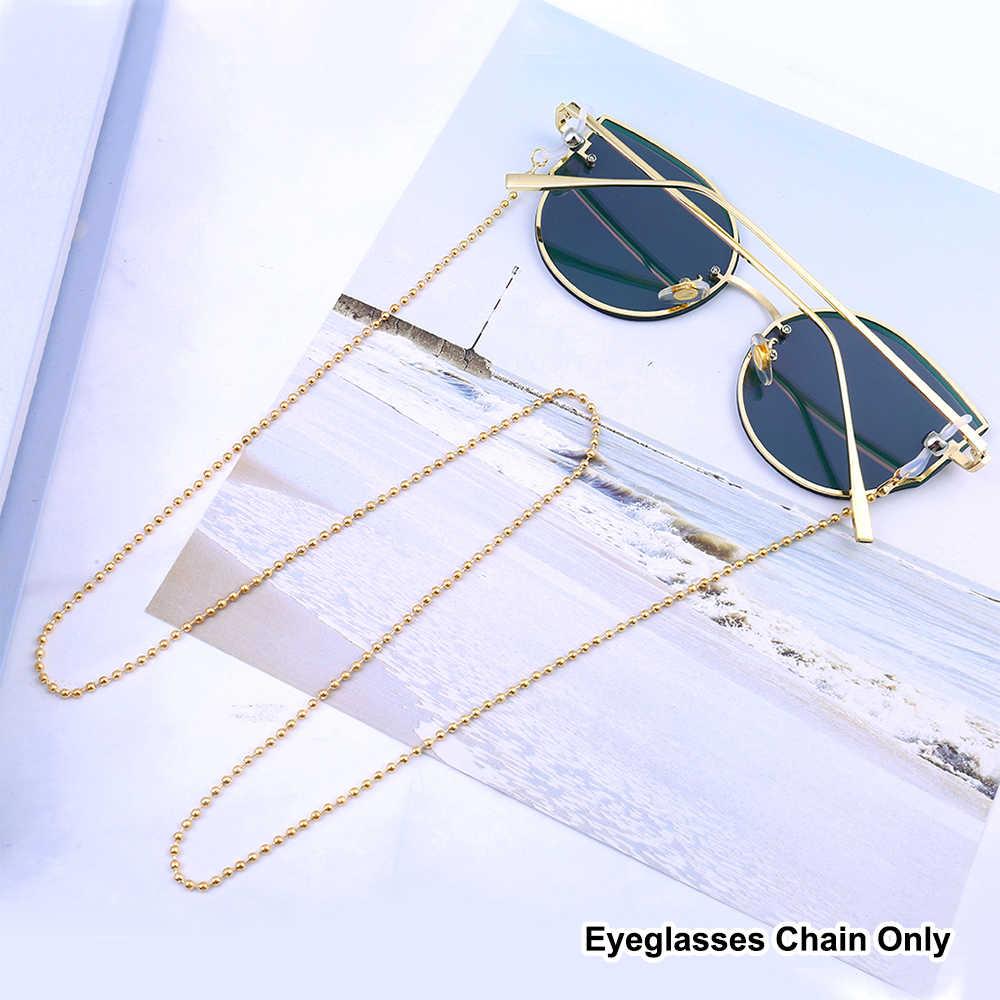 JFAN Catena Per Occhiali Moda Twist Link Retro Vintage Catena Occhiali da Sole e Vista con Gommini Antiscivoli e Regolabile di Silicone Cordino