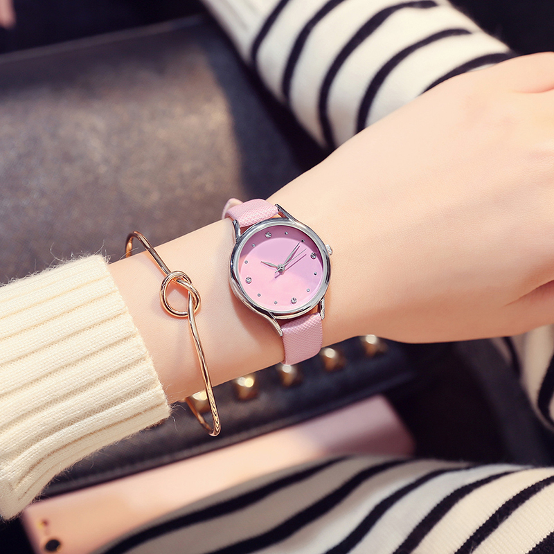 Fashion Crystal Leather Women Watch Casual Quartz Wrist Watch for Women Girl Clock Student Watch Reloj Mujer bayan kol saati newly design dog pug watch women girl pu leather quartz wrist watches ladies watch reloj mujer bayan kol saati relogio feminino