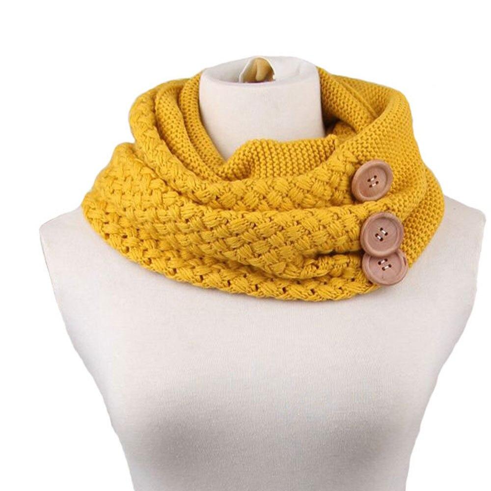 Fashion Scarf Warm Neck Warmer Scarves knitting Wool Hot Sale Women winter scarf Ladies neck warmer Echarpe Foulard #3