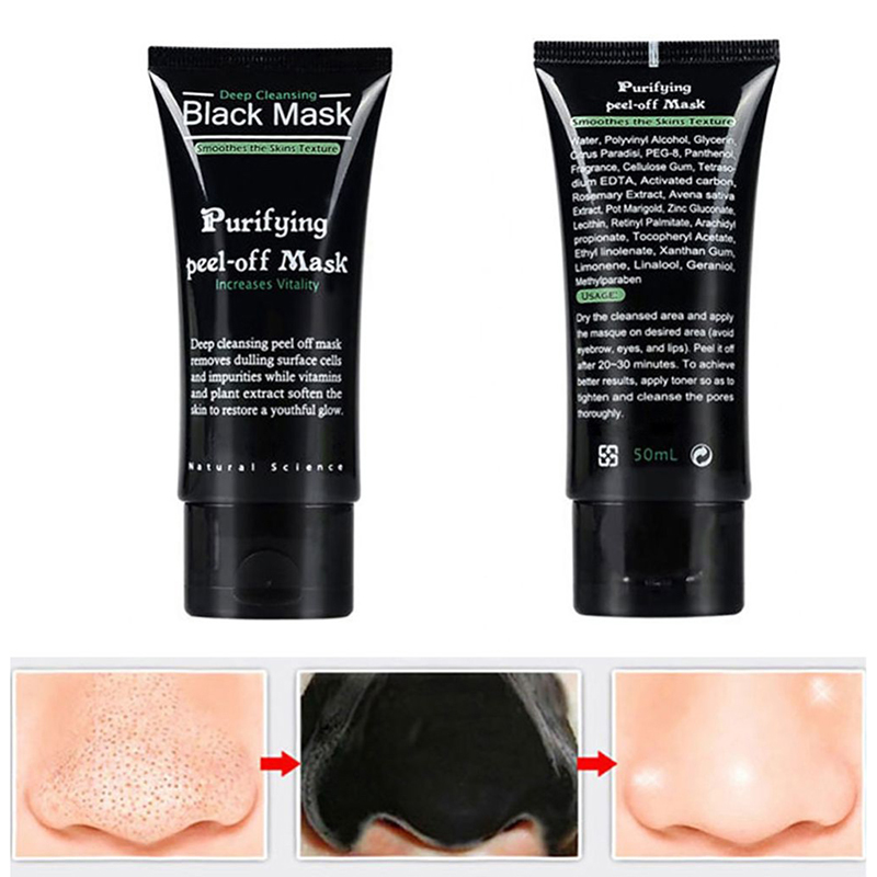 50g bamboo  Blackhead Cleanser Cleansing nose Face Black Head suction blackMask Facial Masks Deep Cleansing