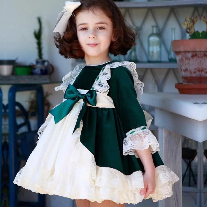 Wedding Gowns For Babies: Fashion Christmas Girls Dresses Bow Lace Baby Girl