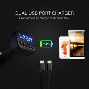 Image 5 - Car Charger Quick Charge 3.0 LED Display USB Fast Charger For Xiaomi IPhone Huawei Samsung S9 S8 QC 3.0 USB Car Charger